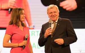 Claudia Schick mit Herrn Bouffier